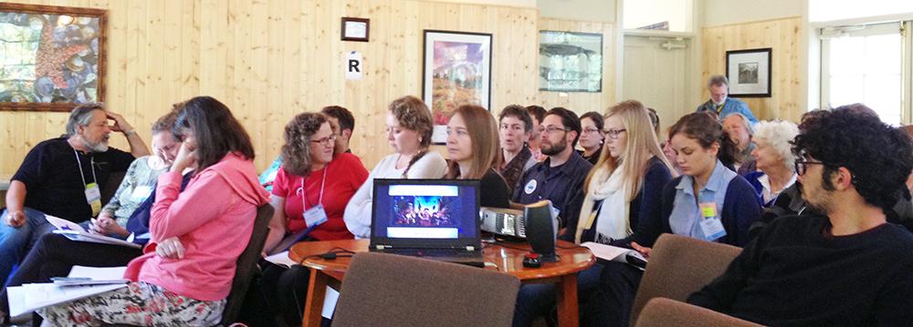 Photo of storytelling presentation at the Eco Net Summit.