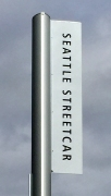 Photo of Seattle Streetcar sign