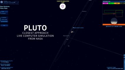 Photo of NASA's live computer simulation