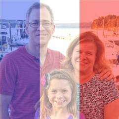 Photo of profile picture with French colors
