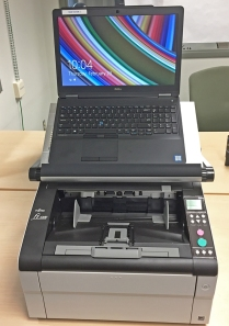 Photo of new digital scanner