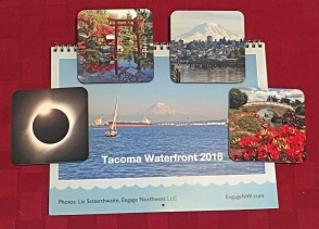 Photo of Tacoma Waterfront calendar and coasters