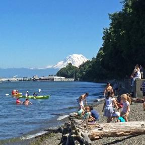 Photo of kayakers at Owen Beach
